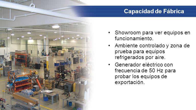 Capacidad de Fábrica Showroom para ver equipos en funcionamiento.