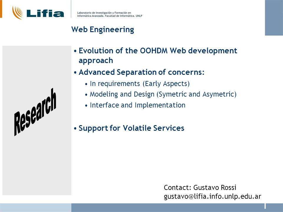 Evolution of the OOHDM Web development approach