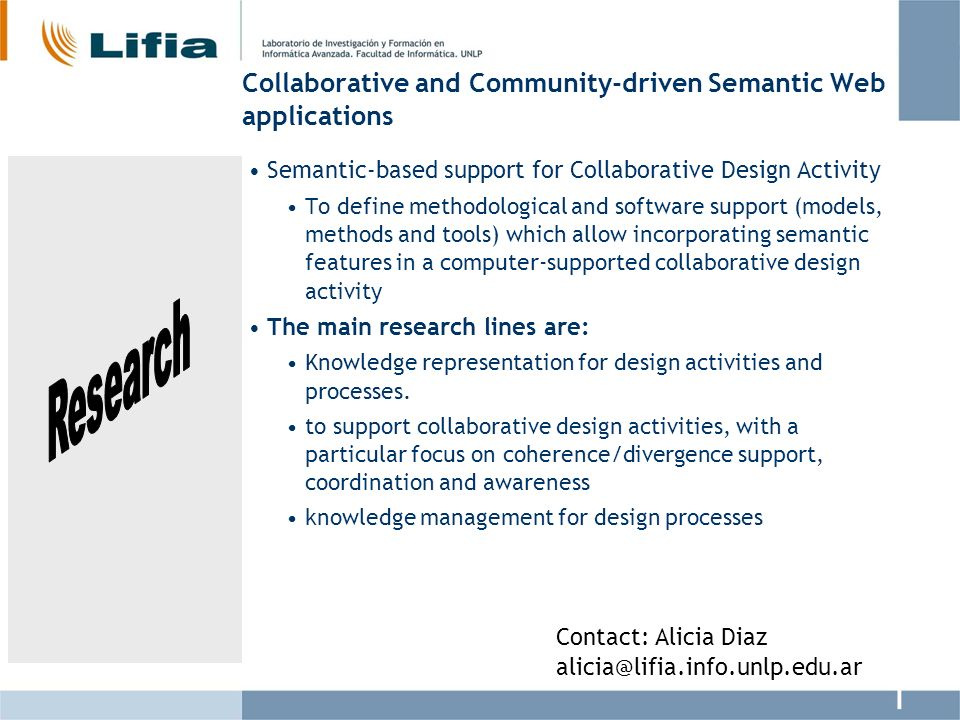 Collaborative and Community-driven Semantic Web applications