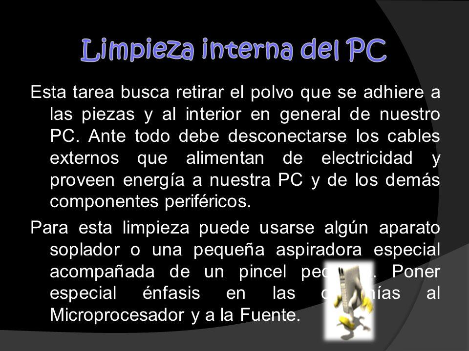 Limpieza interna del PC