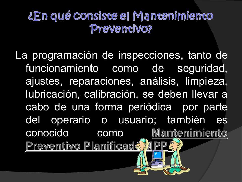 ¿En qué consiste el Mantenimiento Preventivo
