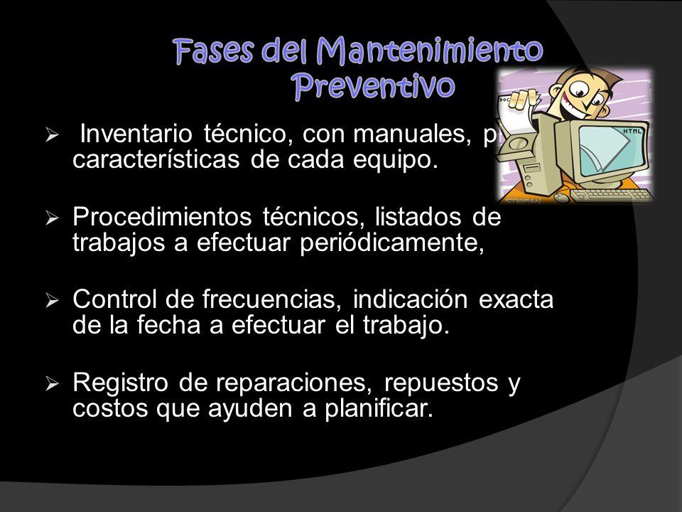 Fases del Mantenimiento Preventivo