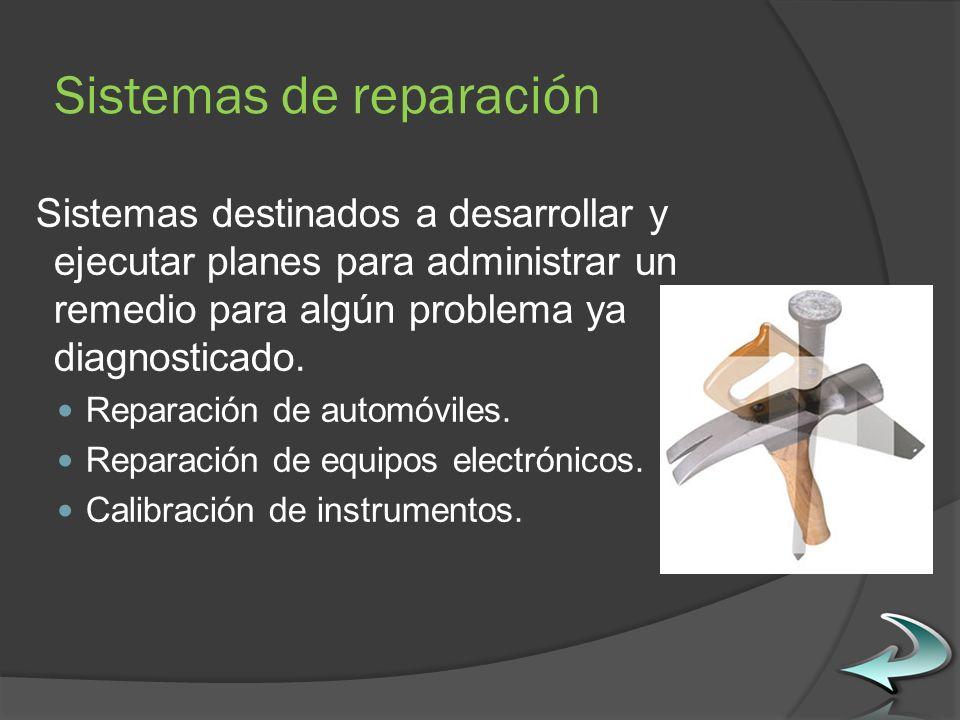 Sistemas de reparación