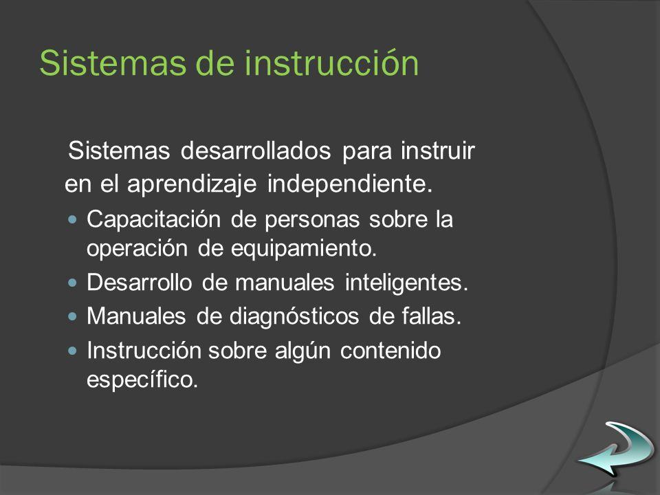 Sistemas de instrucción