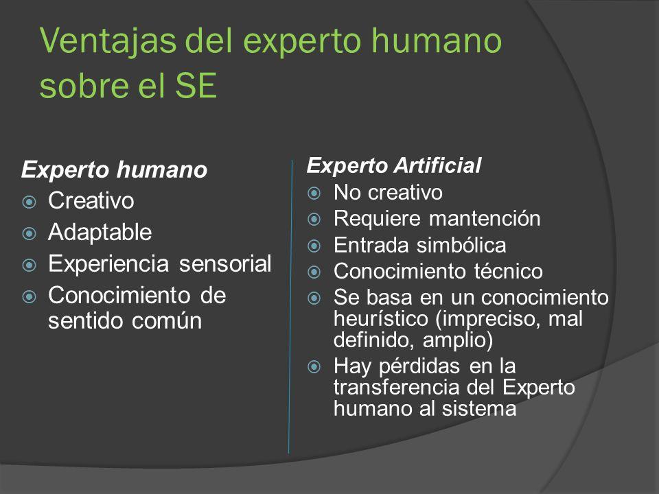 Ventajas del experto humano sobre el SE