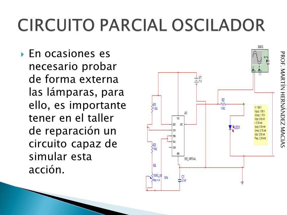 CIRCUITO PARCIAL OSCILADOR