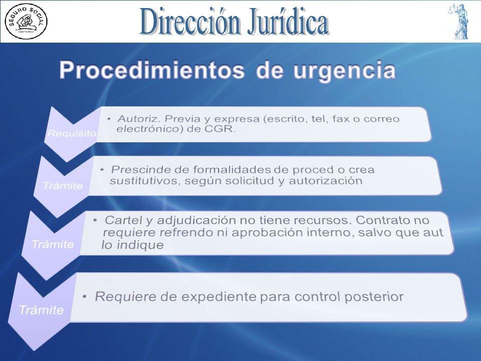 Procedimientos de urgencia