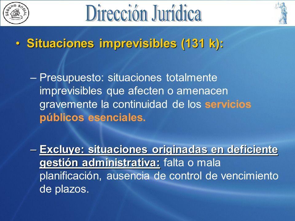 Situaciones imprevisibles (131 k):