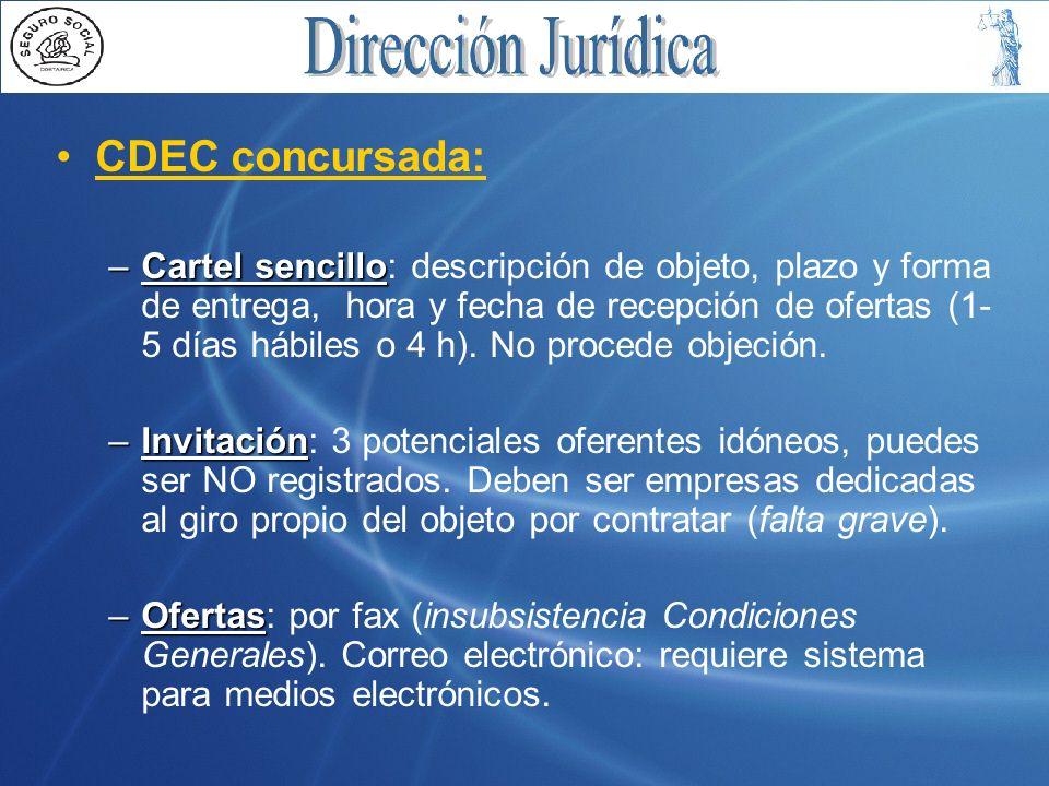 CDEC concursada: