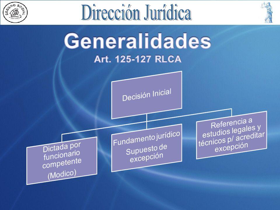 Generalidades Art. 125-127 RLCA