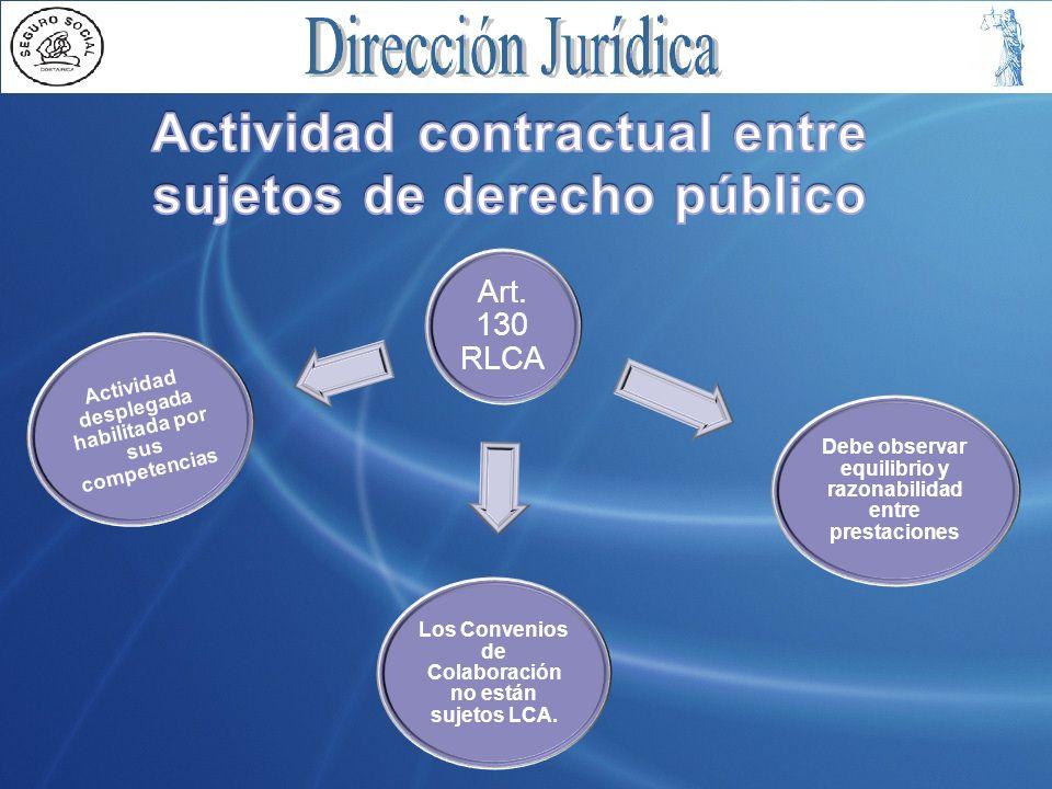 Actividad contractual entre sujetos de derecho público
