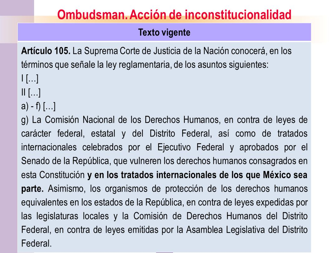 Ombudsman. Acción de inconstitucionalidad
