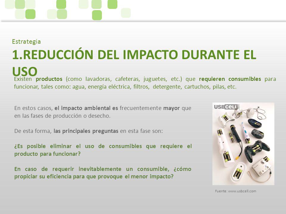 REDUCCIÓN DEL IMPACTO DURANTE EL USO