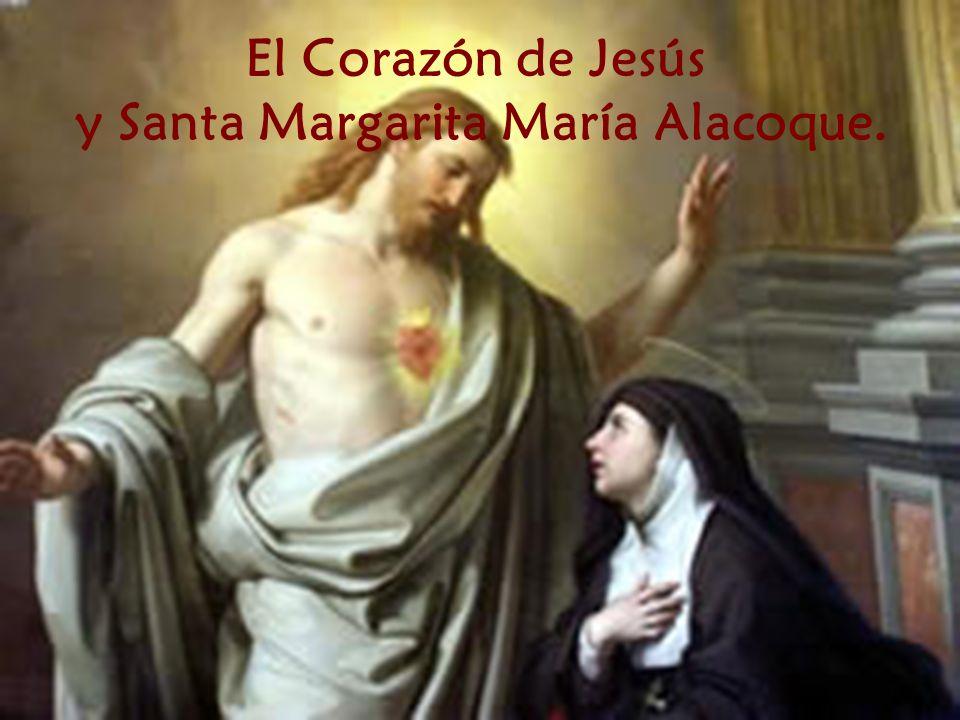 El Corazón de Jesús y Santa Margarita María Alacoque.