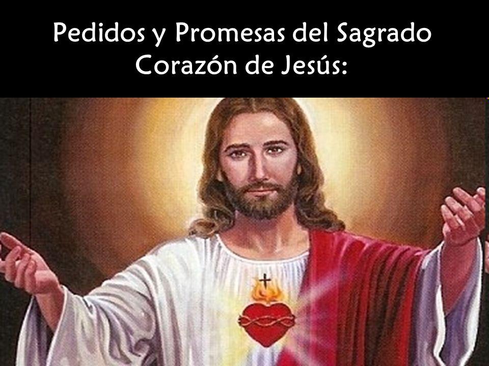 Pedidos y Promesas del Sagrado Corazón de Jesús: