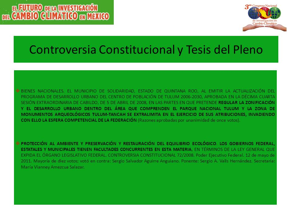 Controversia Constitucional y Tesis del Pleno