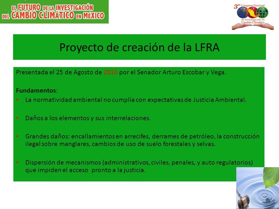 Proyecto de creación de la LFRA