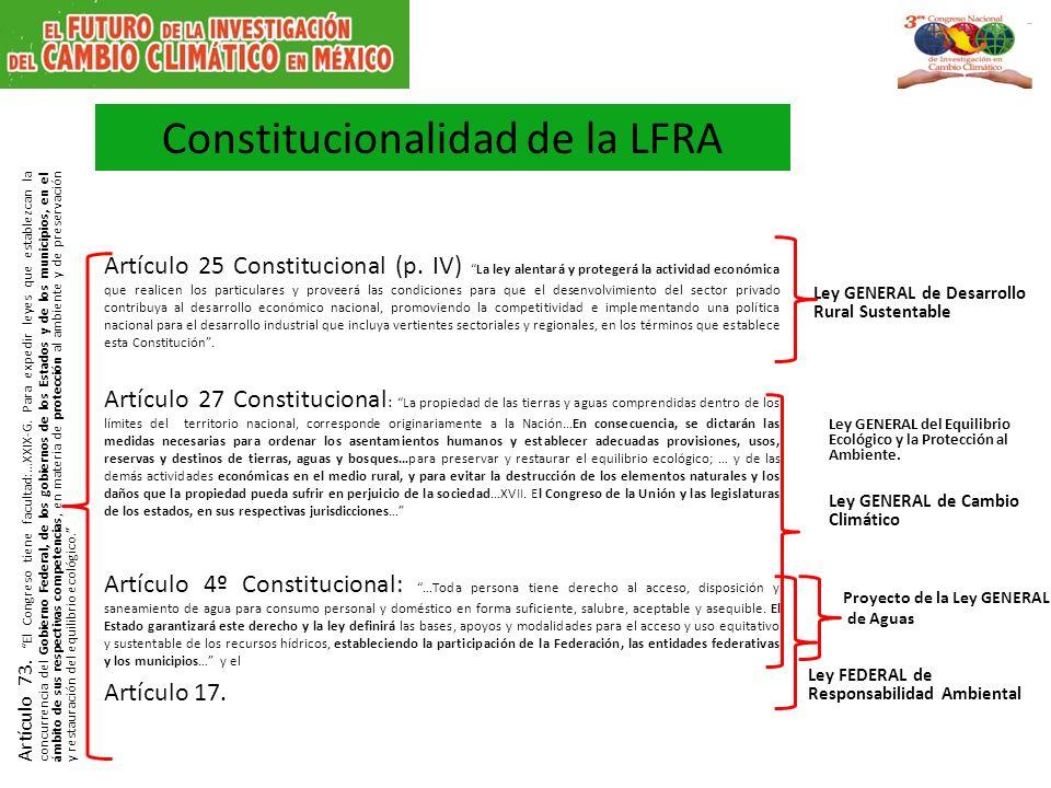 Constitucionalidad de la LFRA