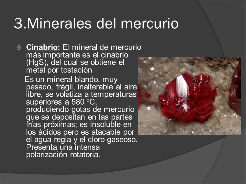 3.Minerales del mercurio