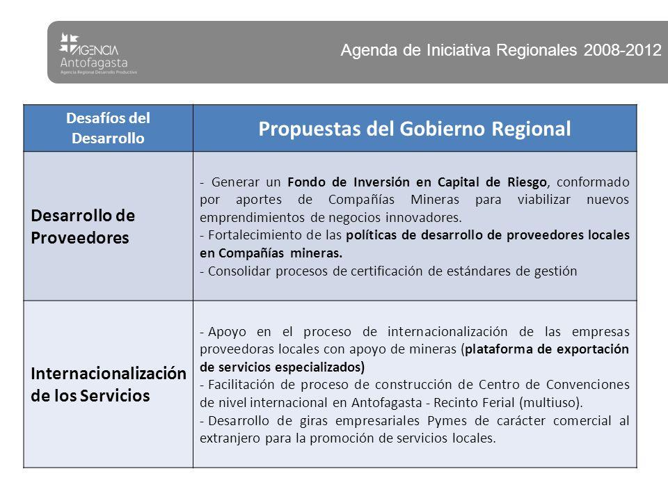 Desafíos del Desarrollo Propuestas del Gobierno Regional