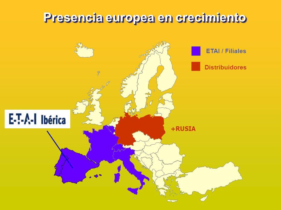 Presencia europea en crecimiento
