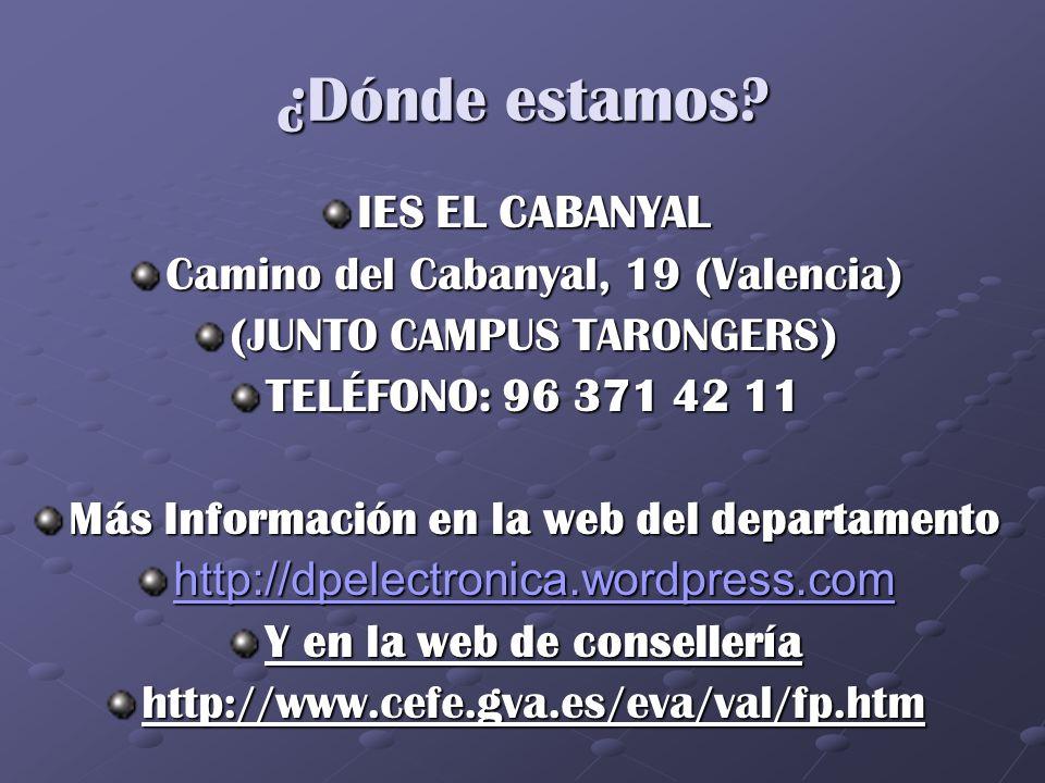 Más Información en la web del departamento Y en la web de consellería
