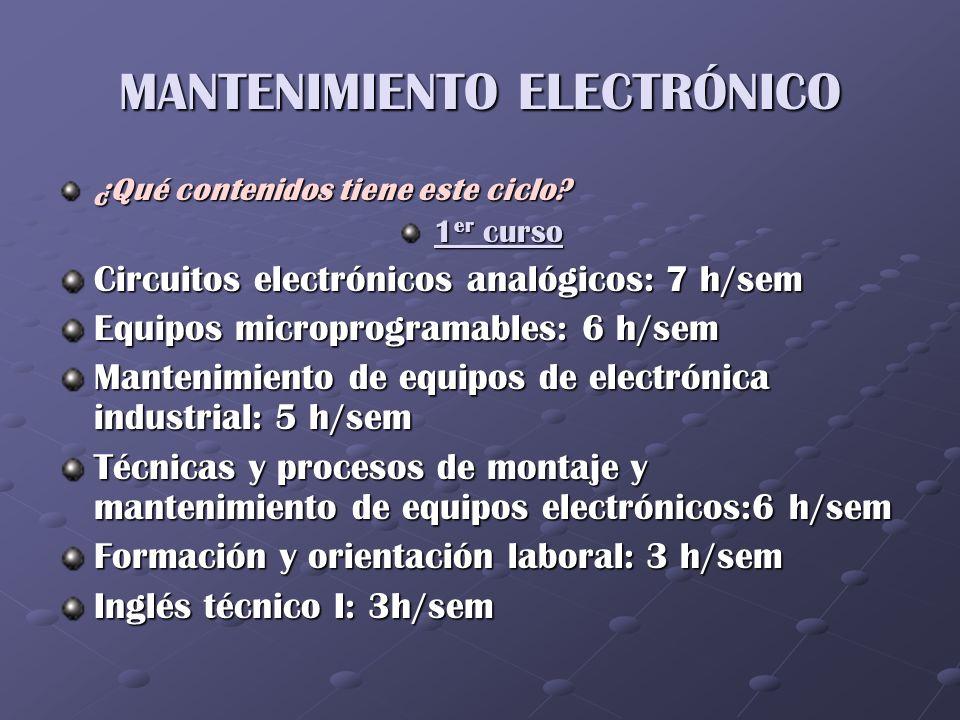 MANTENIMIENTO ELECTRÓNICO