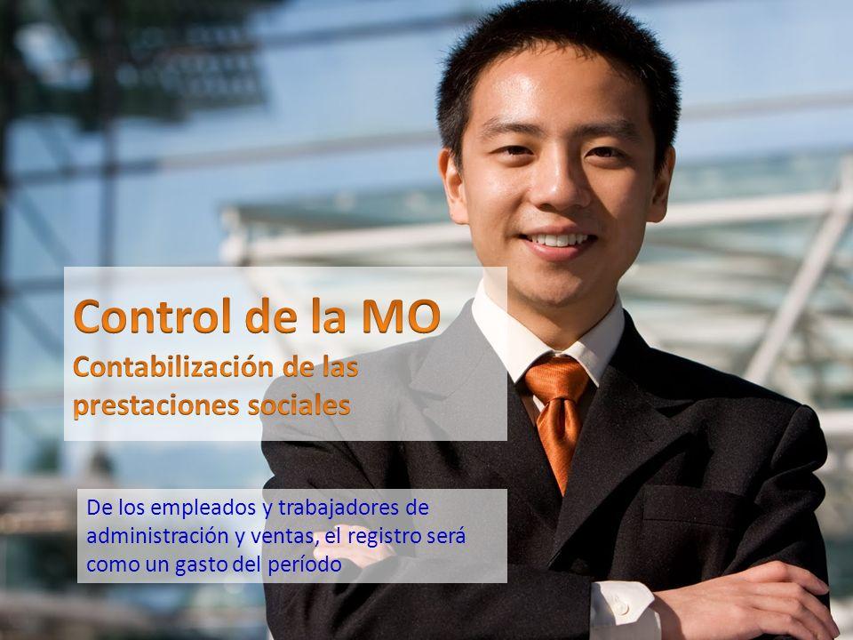 Control de la MO Contabilización de las prestaciones sociales