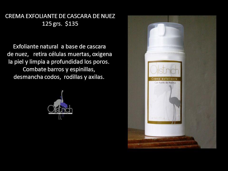 CREMA EXFOLIANTE DE CASCARA DE NUEZ 125 grs. $135