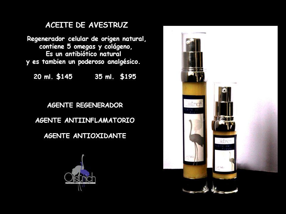 ACEITE DE AVESTRUZ contiene 5 omegas y colágeno,