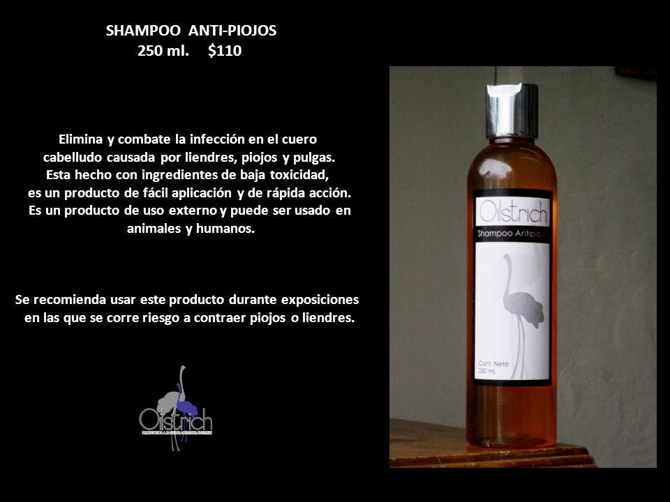 250 ml. $110 Elimina y combate la infección en el cuero
