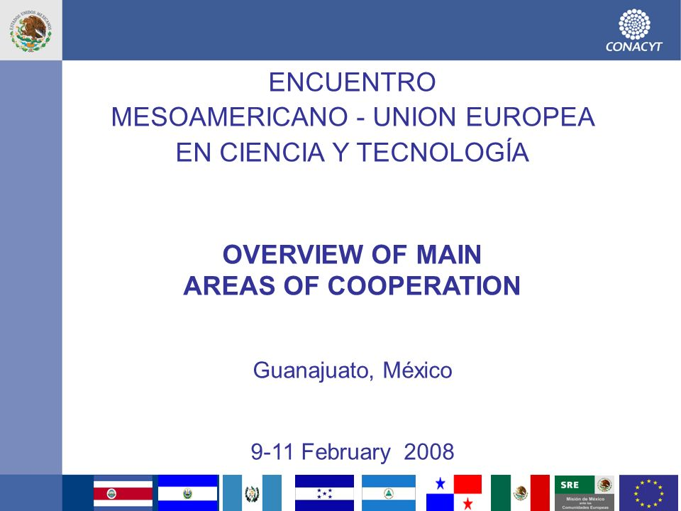OVERVIEW OF MAIN AREAS OF COOPERATION