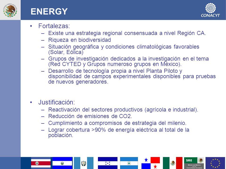 ENERGY Fortalezas: Justificación: