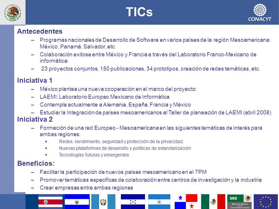 TICs Antecedentes Iniciativa 1 Iniciativa 2 Beneficios: