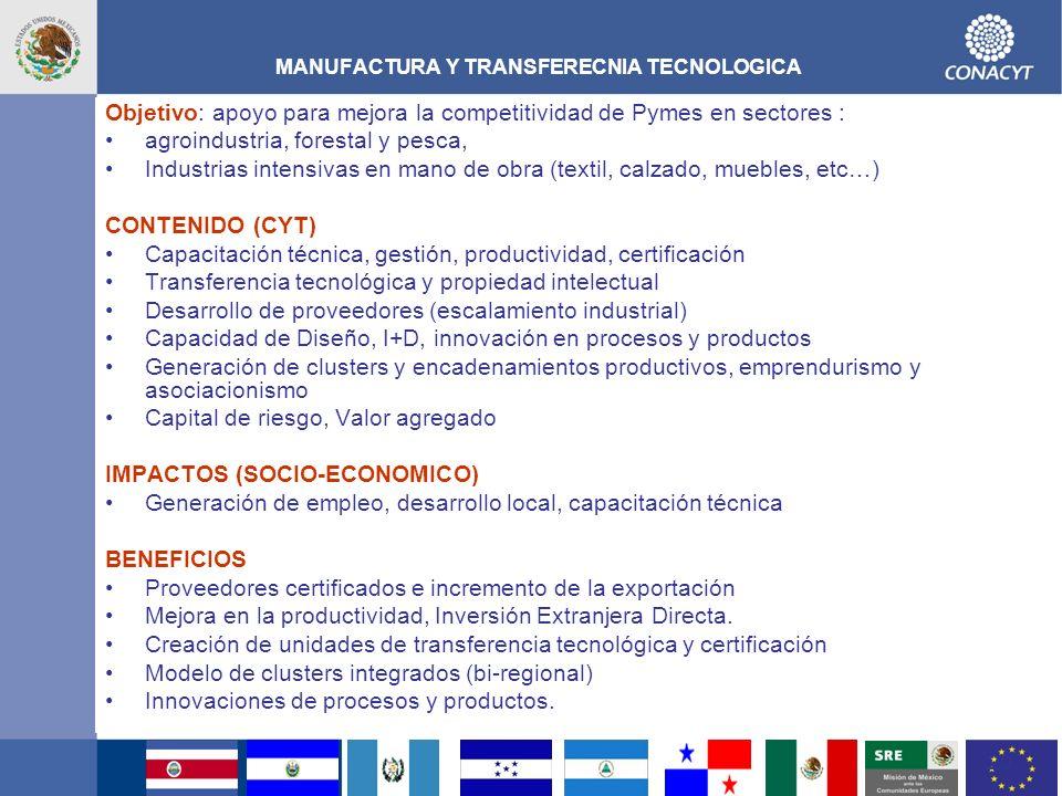 MANUFACTURA Y TRANSFERECNIA TECNOLOGICA