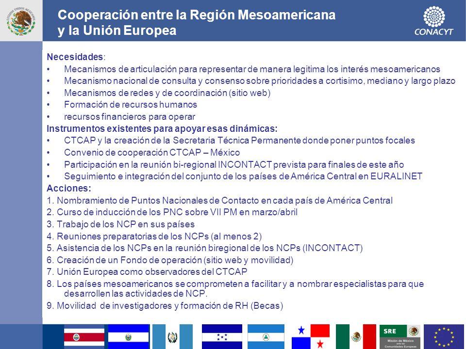 Cooperación entre la Región Mesoamericana y la Unión Europea