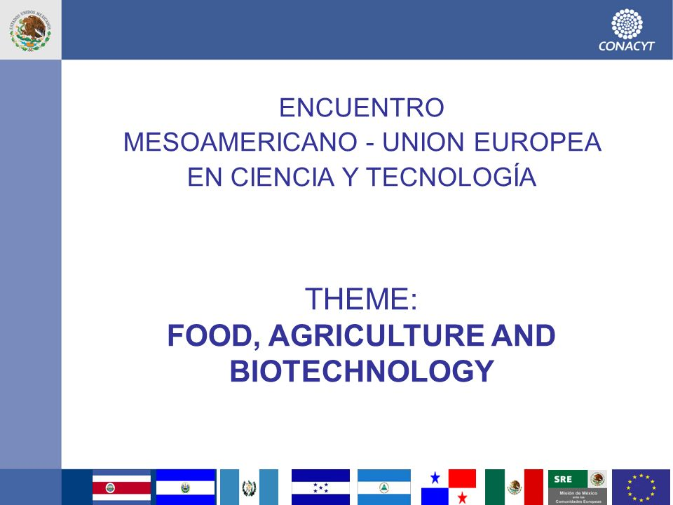 FOOD, AGRICULTURE AND BIOTECHNOLOGY