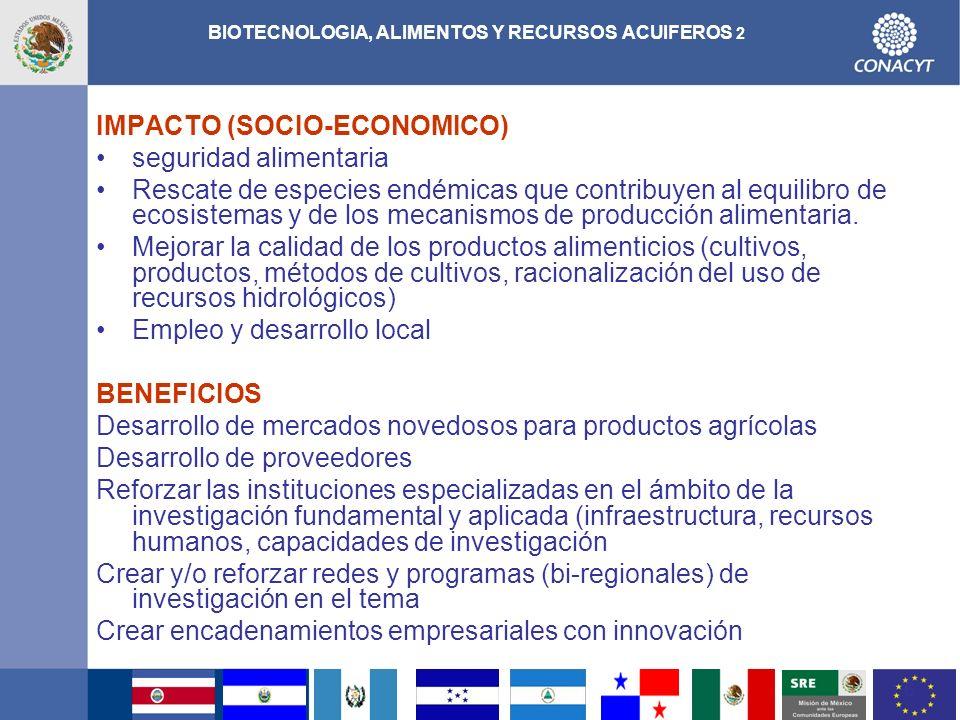 BIOTECNOLOGIA, ALIMENTOS Y RECURSOS ACUIFEROS 2