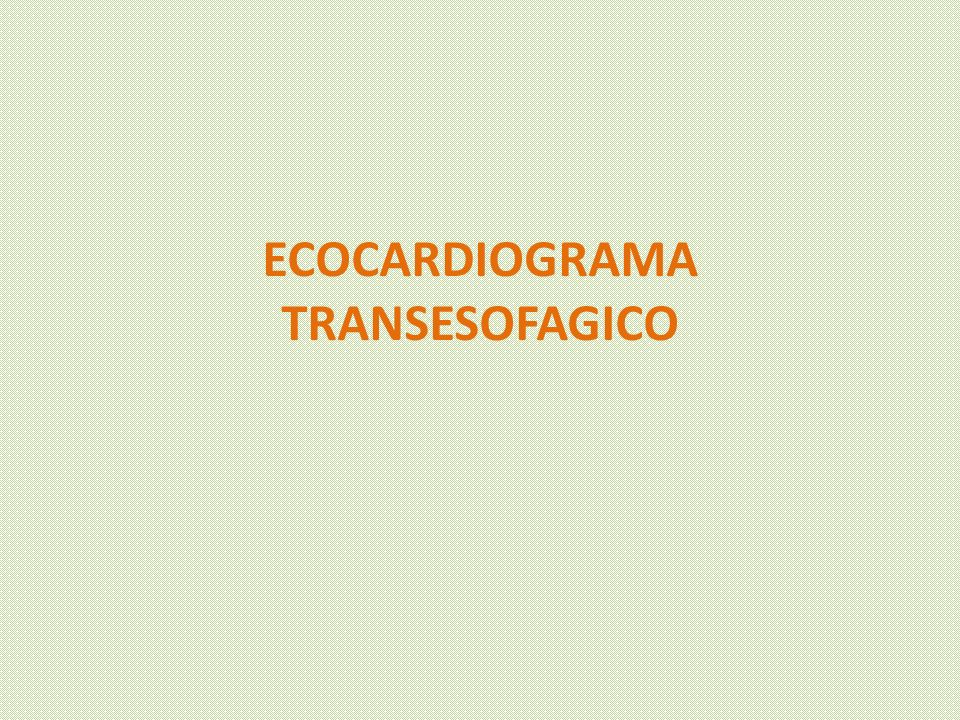 ECOCARDIOGRAMA TRANSESOFAGICO