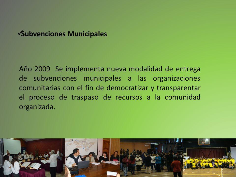 Subvenciones Municipales