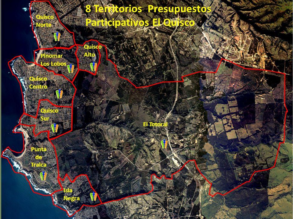 8 Territorios Presupuestos Participativos El Quisco