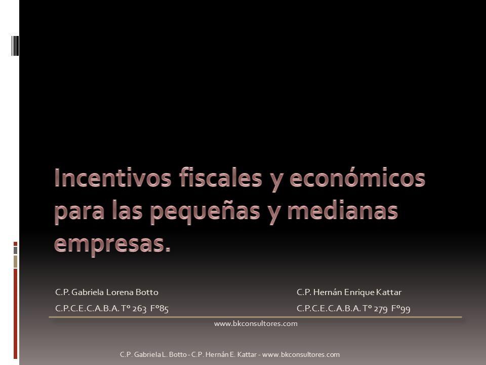 Incentivos fiscales y económicos para las pequeñas y medianas empresas.