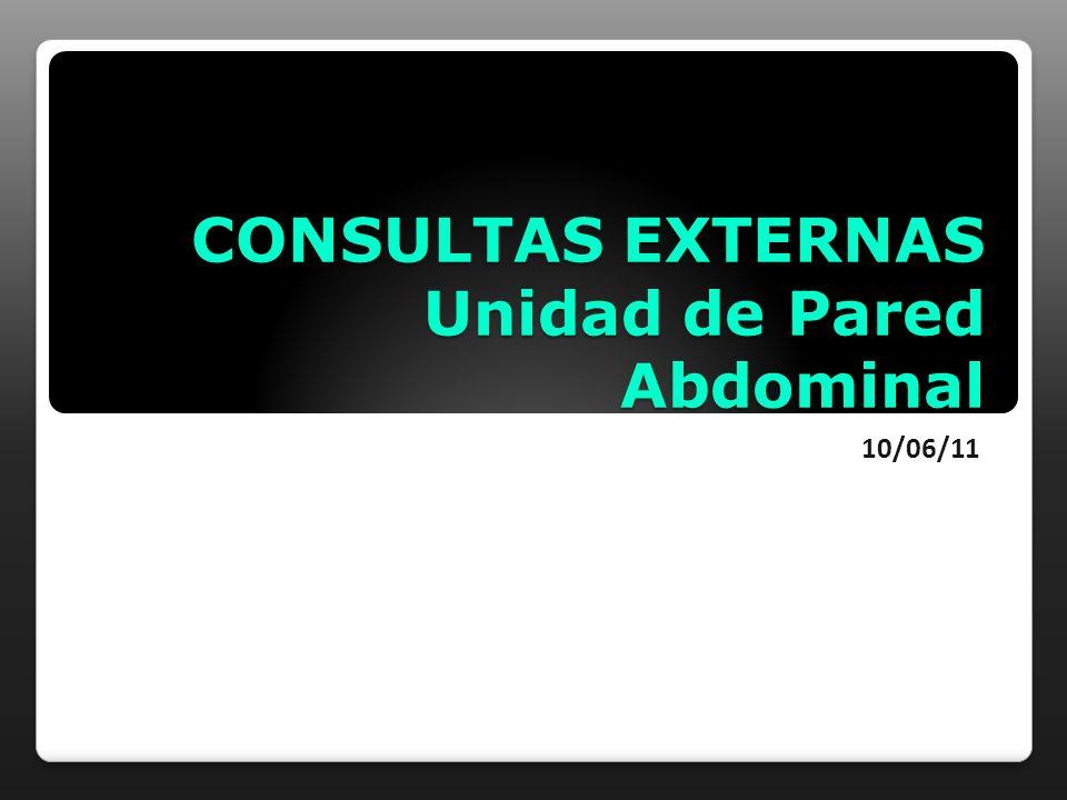 CONSULTAS EXTERNAS Unidad de Pared Abdominal