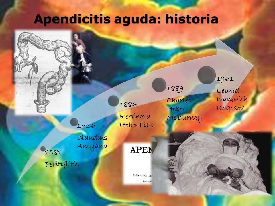 Apendicitis aguda: historia