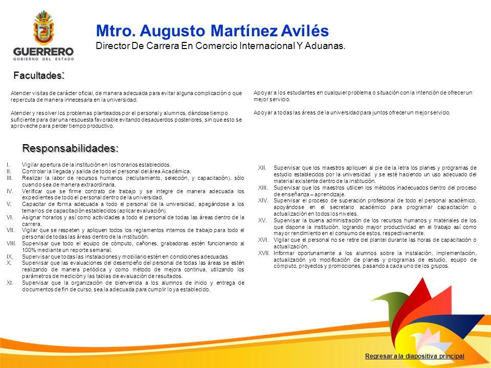 Mtro. Augusto Martínez Avilés