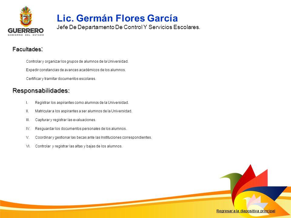 Lic. Germán Flores García
