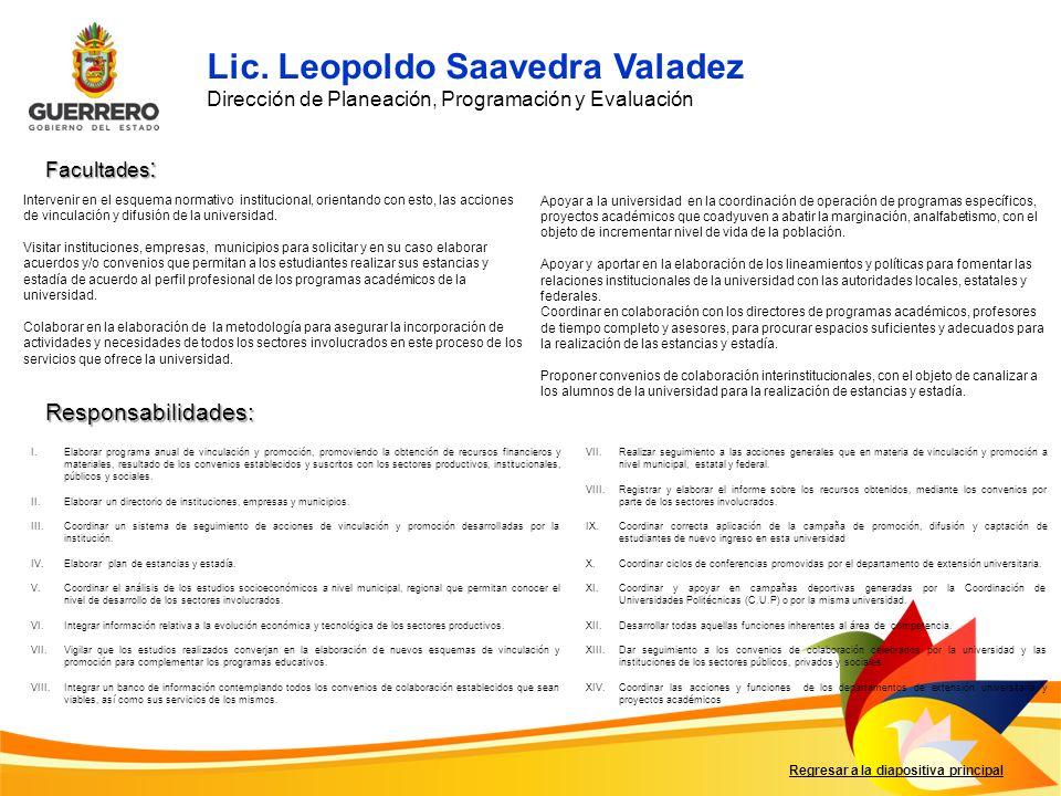 Lic. Leopoldo Saavedra Valadez