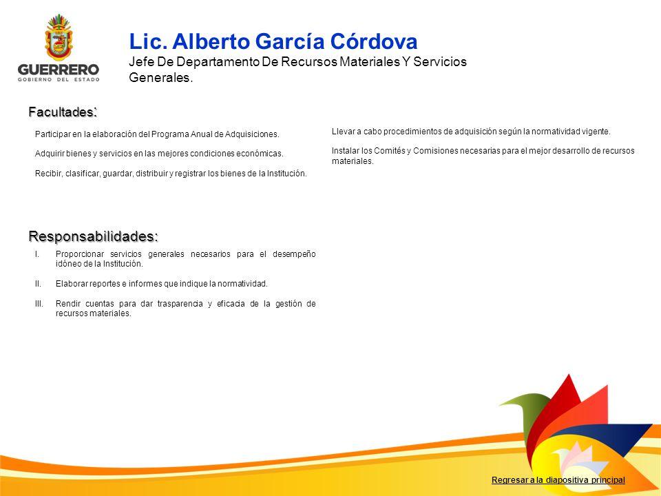 Lic. Alberto García Córdova
