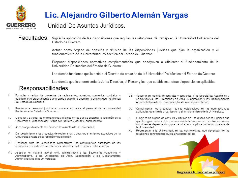 Lic. Alejandro Gilberto Alemán Vargas
