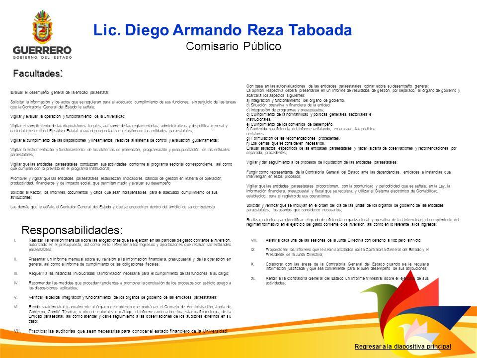 Lic. Diego Armando Reza Taboada